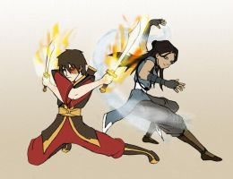 Zutara: Battle Ready by Samie661