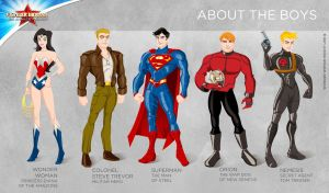 Wonder Woman Cartoon Show: About the boys by tremary