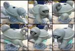 Squirtle teapot -WIP- greenware stage by Spaggled