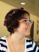 Purple Flower Crown and Lennon Shades by Strabius