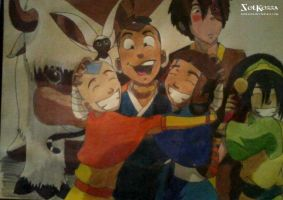 Team Avatar Traditional Draw (origial) by SolKorra