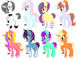 Pony Adopts BIG BATCH #1 by DesuPanda-Adopts