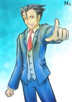 Ace Attorney 5 Phoenix Wright by Marini4