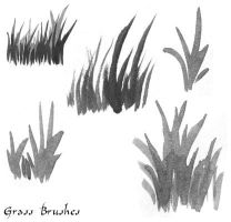 Grass Watercolor Brushes by syrcaid