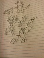 Fakemon Sketches by OmegaCrafter17