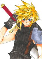 FF7-Cloud colored by Inami