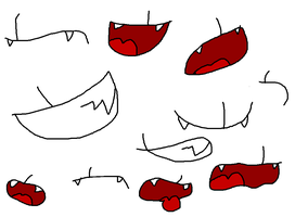 Slasher's mouth expressions by DebbyTheEnvy