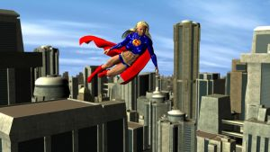 Supergirl Patrol Flight by plinius