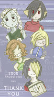 2000 PAGEVIEWS by Chenille-Cerise