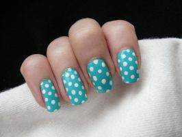 Polka Dot Blue by LuckyRedOne
