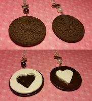 Oreo Cookie Best Friends Necklace Set by ninja2of8