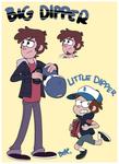 Dipper Pines, Big-N-Little COLOR by PumpkinHipHop