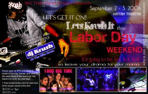 Labor Day Party Flyer by YaDig