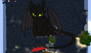 Minecraft Toothless by Ariakus89
