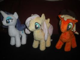 newest finished Plushies by SecludedOtaku
