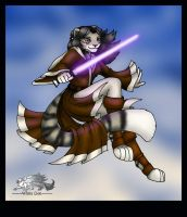 Anthro Jedi by Astrocat