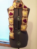 Butter and Jelly Toast Scarf by gochika