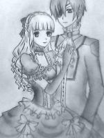 Adult Ciel and Lizzy by isabella-phantomhive