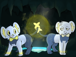 Art Trade~Team Shinxters (With Background) by FailureGirl