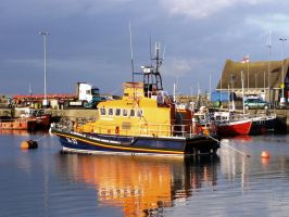 Howth Harbour Boat, Dublin by thielfer