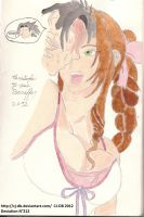 Aerith and Zack kiss by CJ-DB