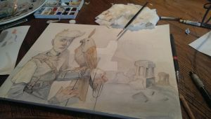 new watercolour work on the way by clockwerkjos