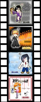 Chibi Bleach Cards by Jamesleon