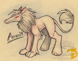Ammit - Egyptian Monster by spatialchaos