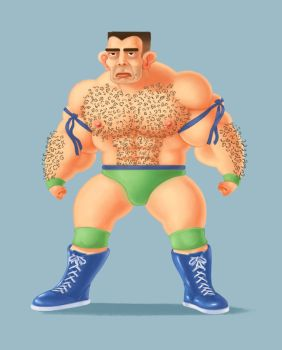 WWF Wrestler by MAWikdahl