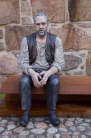 Old Man Statue By Cindysart-stock by CindysArt-Stock