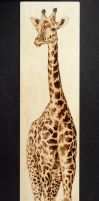 Tall Giraffe - Woodburning by brandojones