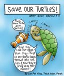Save Our Turtles Cartoon by witchariake