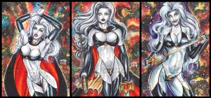 LADY DEATH PERSONAL SKETCH CARDS by AHochrein2010