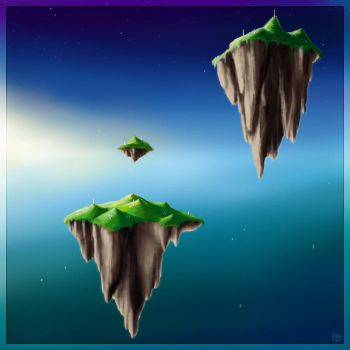 Floating Islands by Crooty
