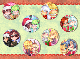 Merry Christmas //BUTTONS by rabbitousa