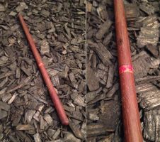 Wizard wand with inlay by Ferenginar