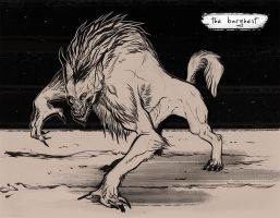 Inktober: Barghest by justjingles