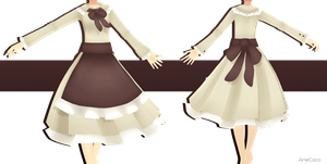 .:: MMD COMMISSION - Dress with apron ::. by AneCoco