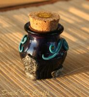 Essence of Bryn Celli Ddu polymer clay bottle (2) by DruidIsleCrafts