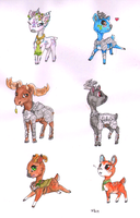 Deer Charas - past time by LadyVentuswill