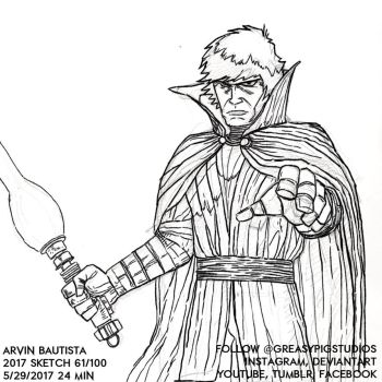 Arvin Bautista Sketches 2017 61/100: Luke 2 by greasypigstudios