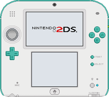 Nintendo 2DS [Sea Green] by BLUEamnesiac