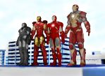 Iron man team (MMD) by stopmotionOSkun