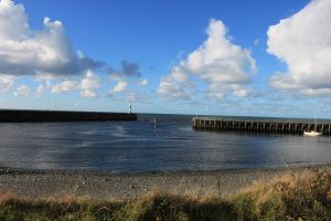 Sunny Saturday in Aberystwyth Harbor by Oddball210