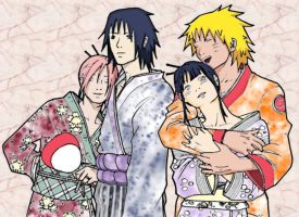NaruHina SasuSaku - Moments of Comfort by SupremeDarkQueen
