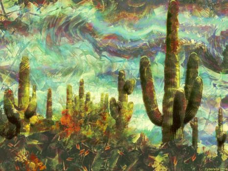 Cactus in a windy day by Cyberalbi