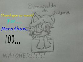 THANK YOU SO MUCH FOR +100 WATCHERS! (New OC!!!) by IzzyTheVampireFox