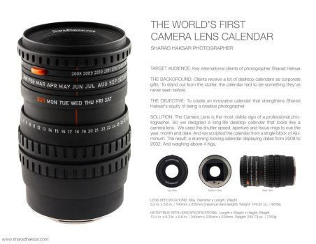World's First Lens Calendar by sharadhaksar