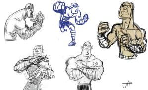 Sagat Sketchies by jesseaclin
