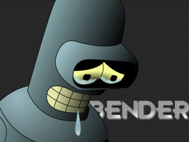 Bender Saddened: with shading by divinechancellor